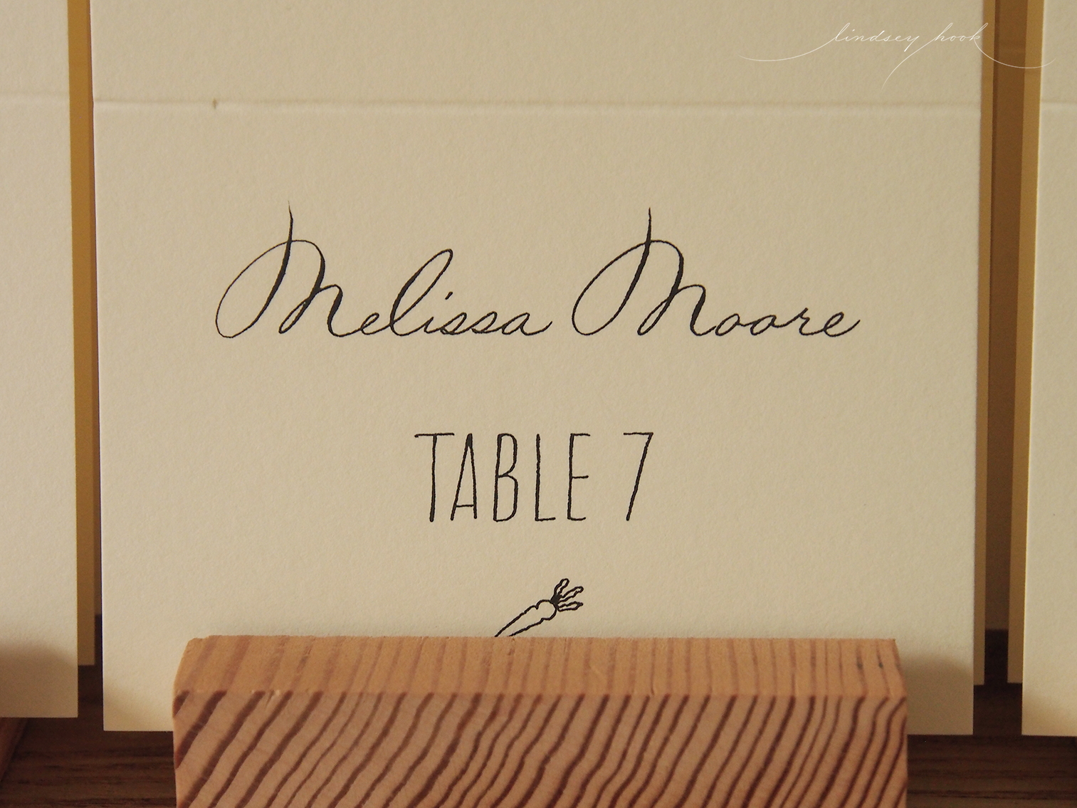 Custom Paired Font Escort Cards