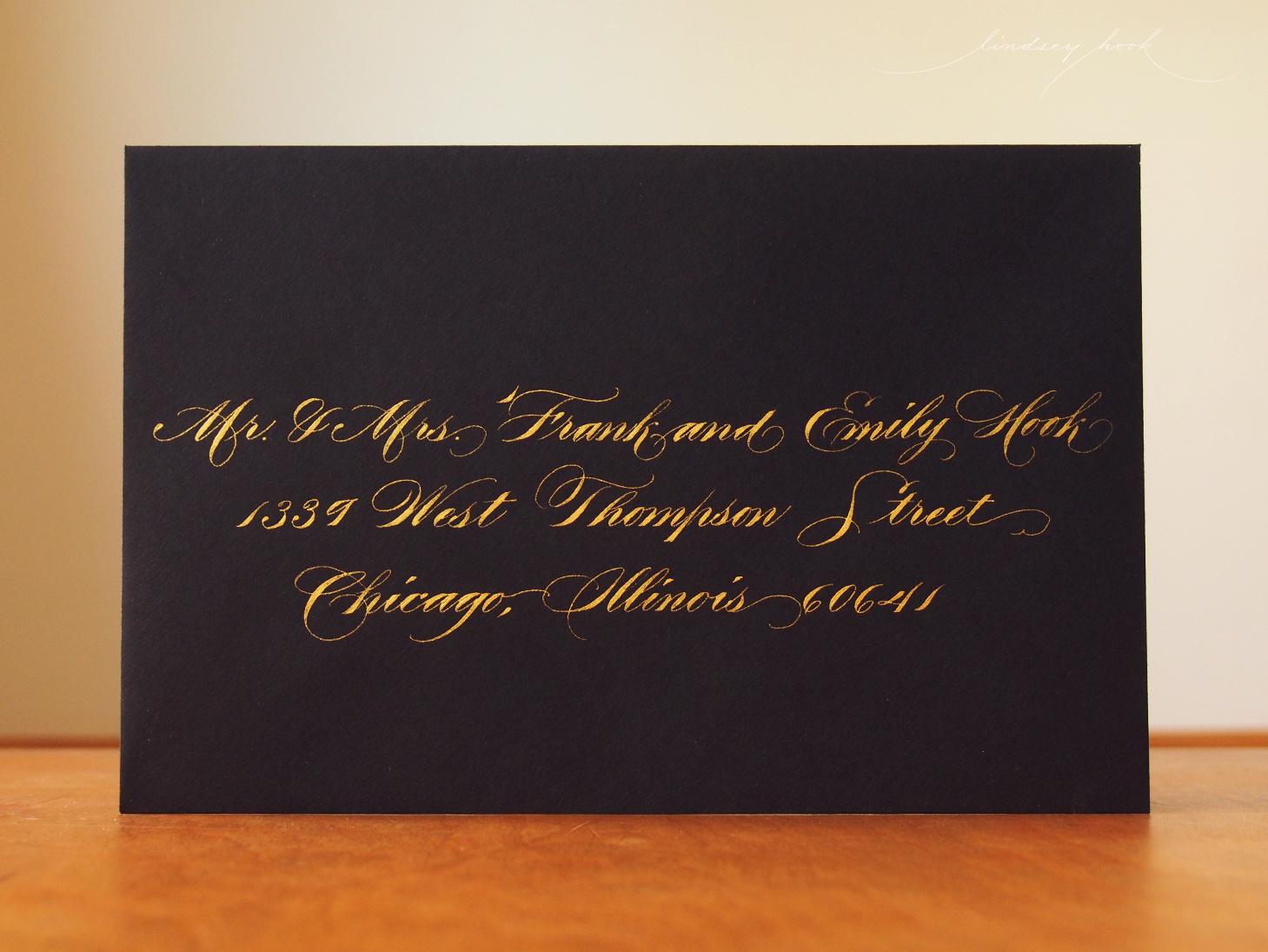 Madarasz Inspired Ornamental Script Envelope