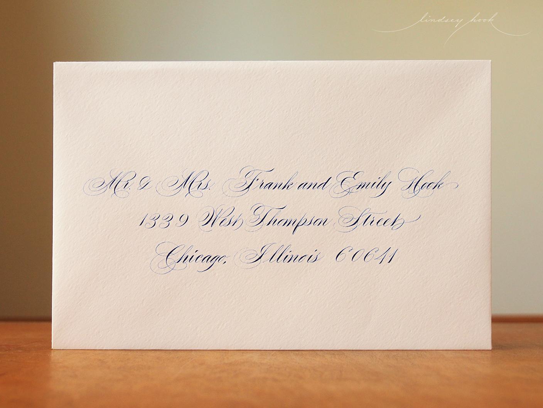 Flourished Shaded Spencerian Script Envelope
