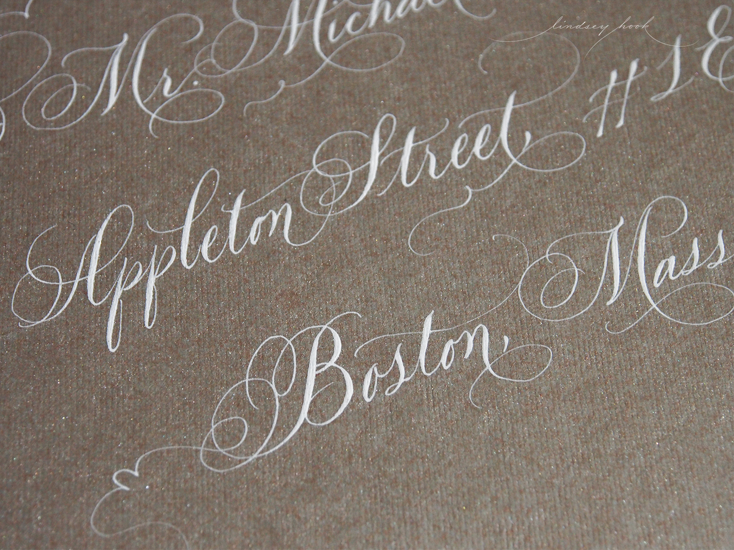 Flourished Copplerplate Script Outer Envelopes