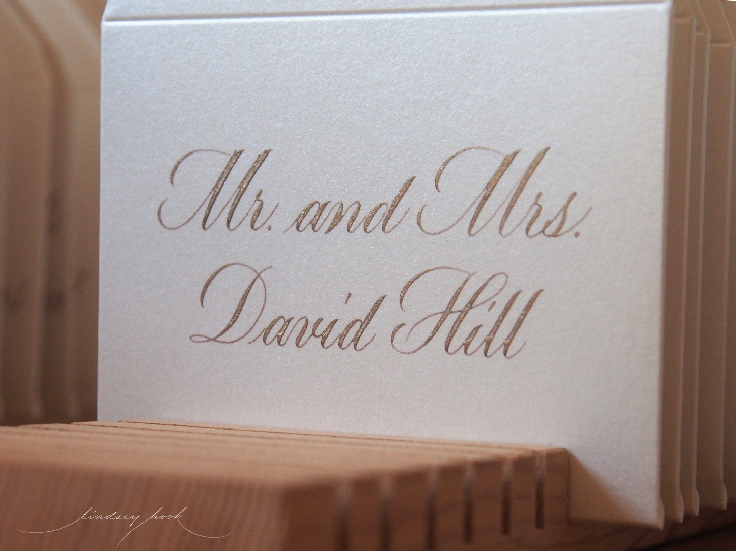 Simple Swash Copperplate Escort/Place Card Envelopes