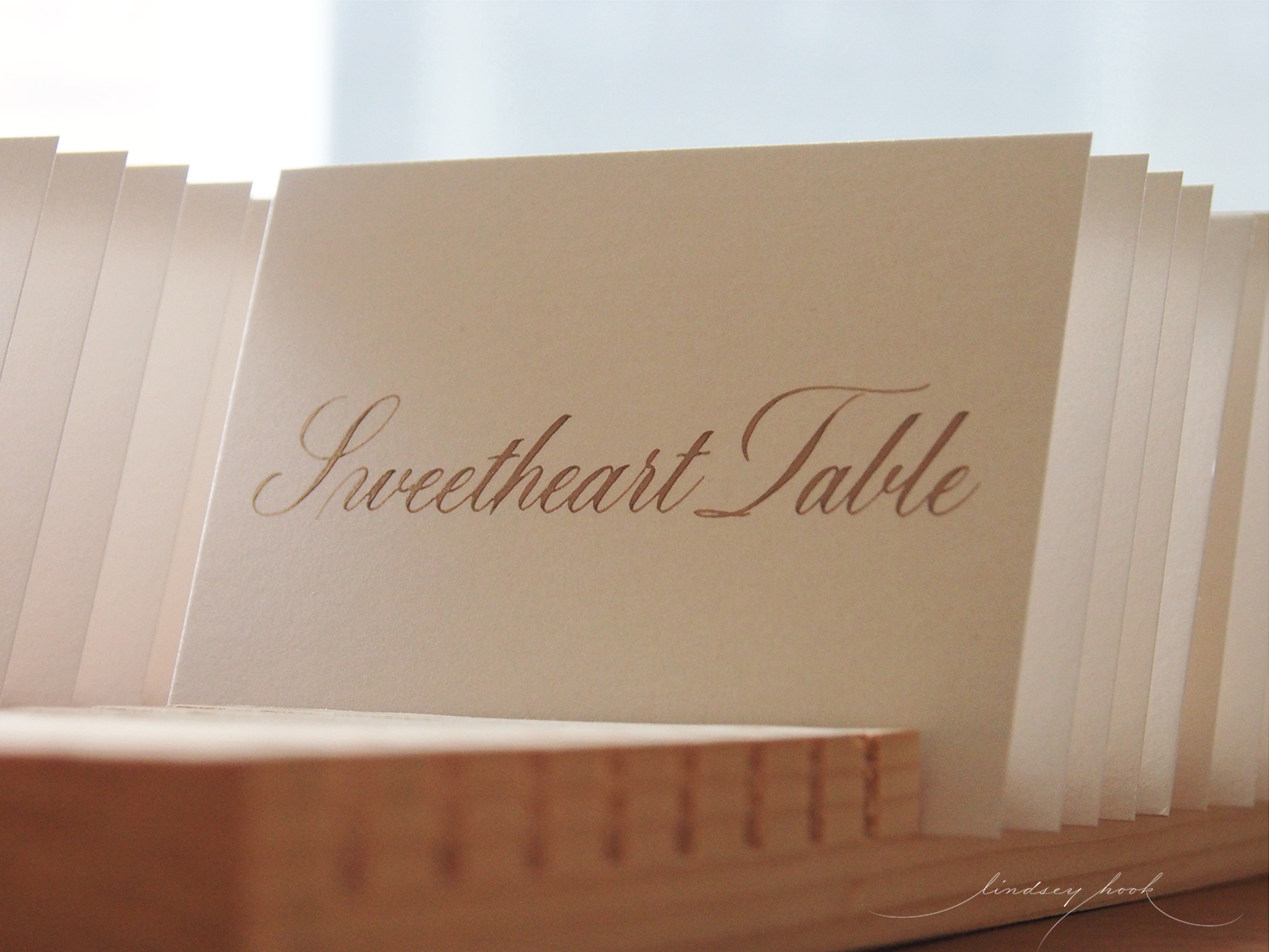 Simple Swash Copperplate Escort/Place Card Table Number Insert