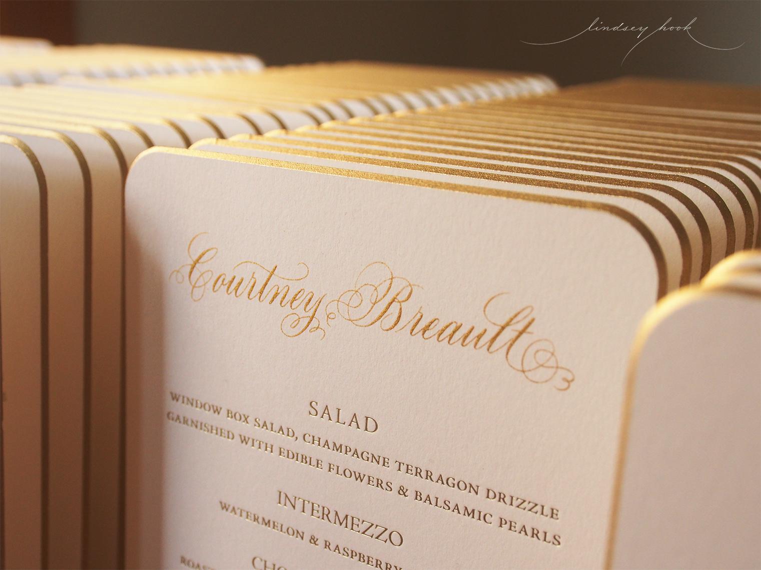 Personalized Wedding Menus