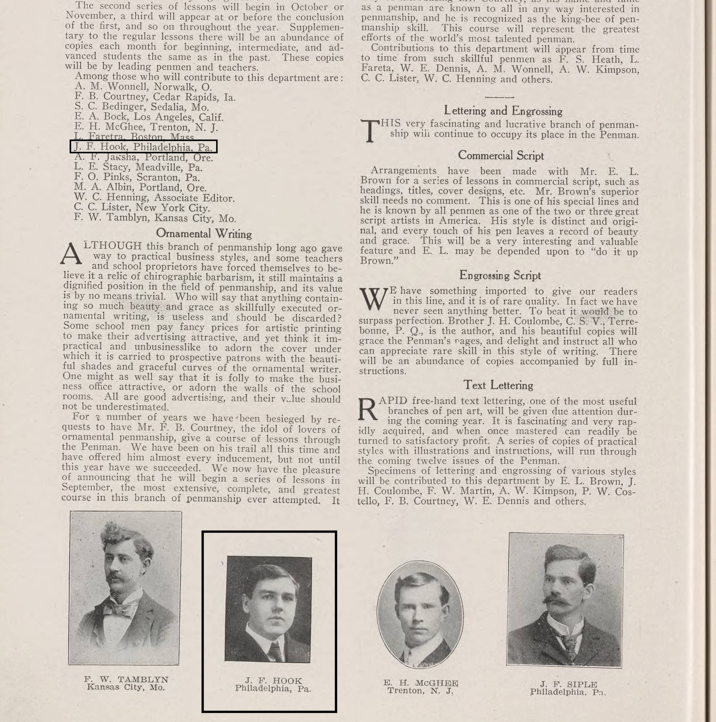 August 1908 issue of The American Penman, Vol. 25, No. 5