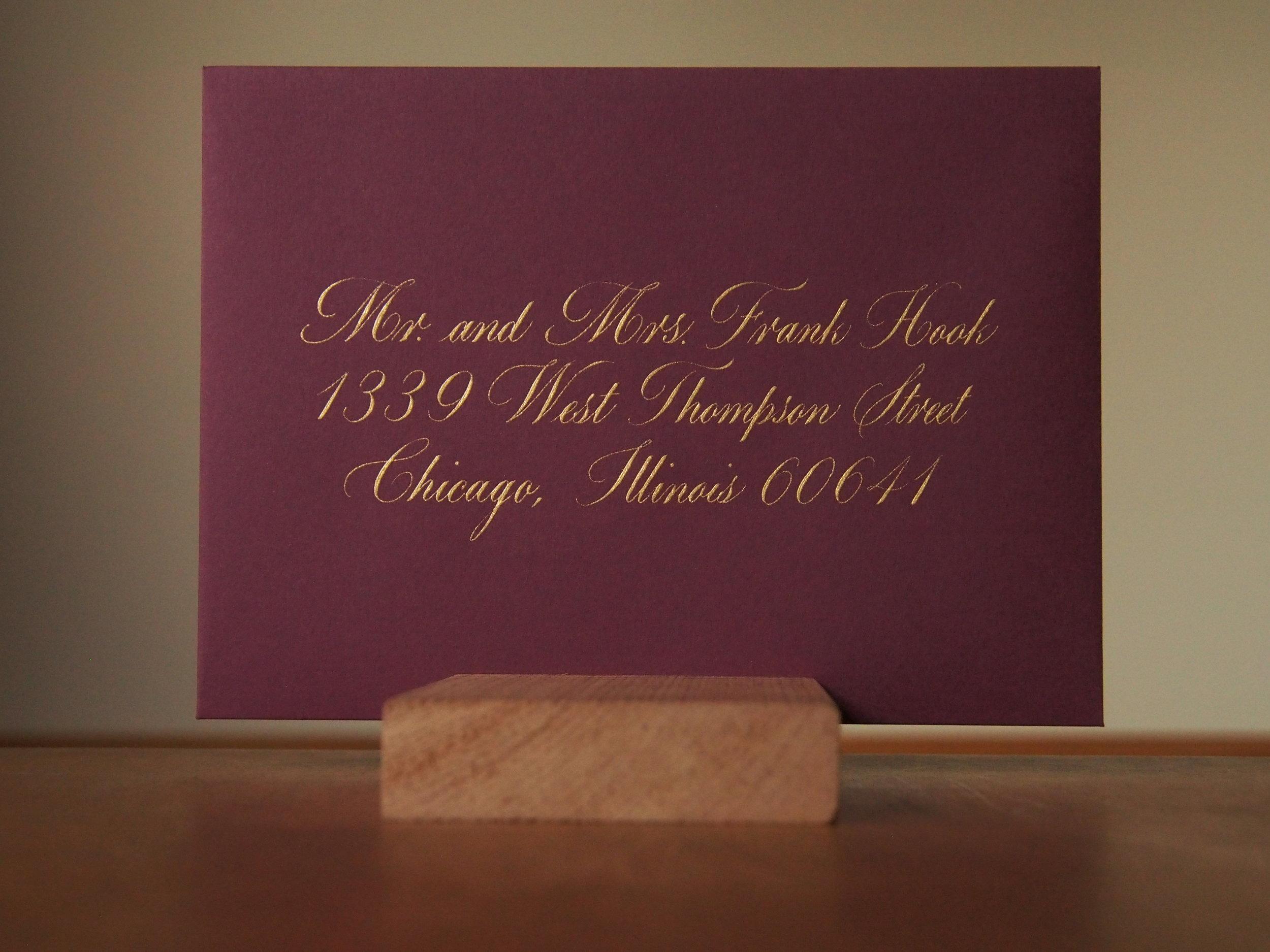 Milton Script Envelope