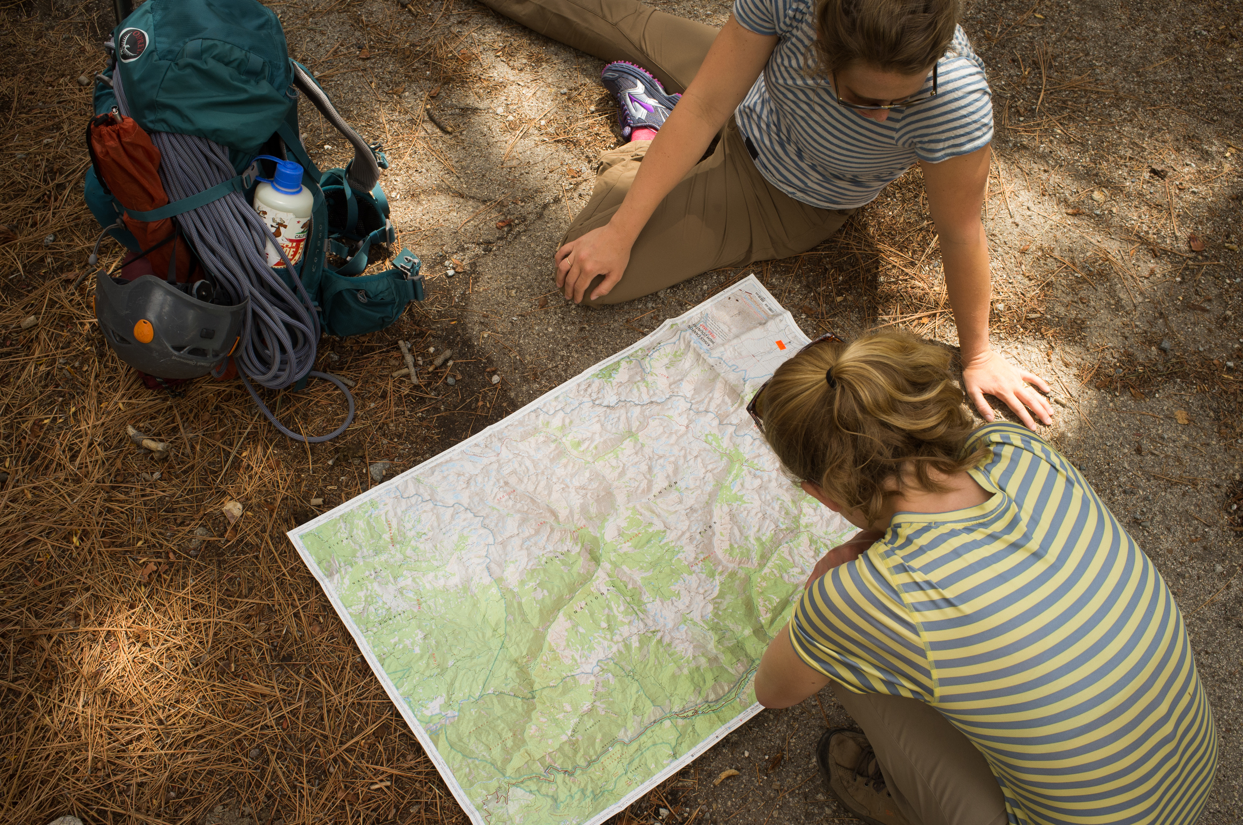 Rinne and I checking out the map