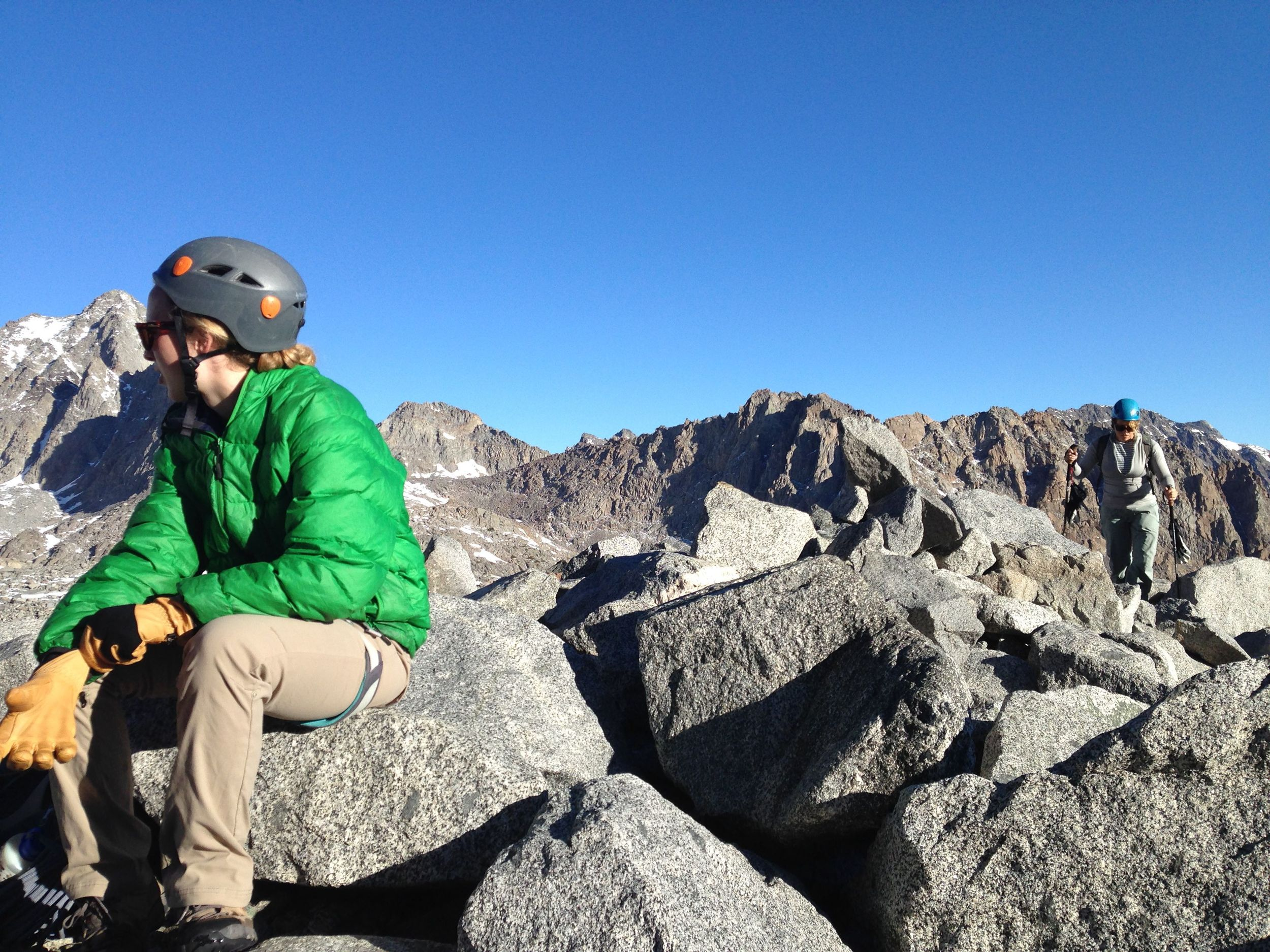 corinne taking in the view of mt sill