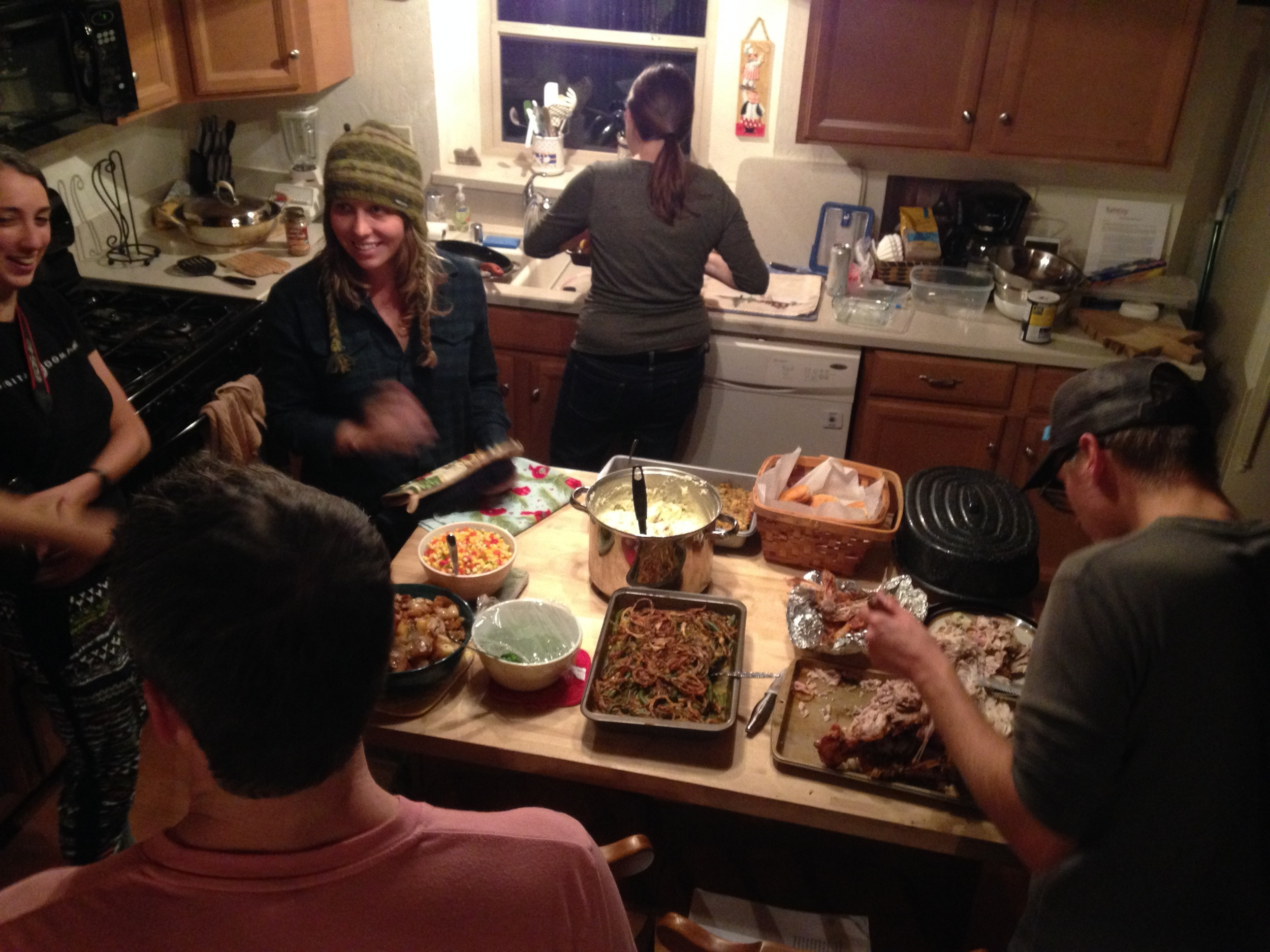 t-giving prep with some of the crew