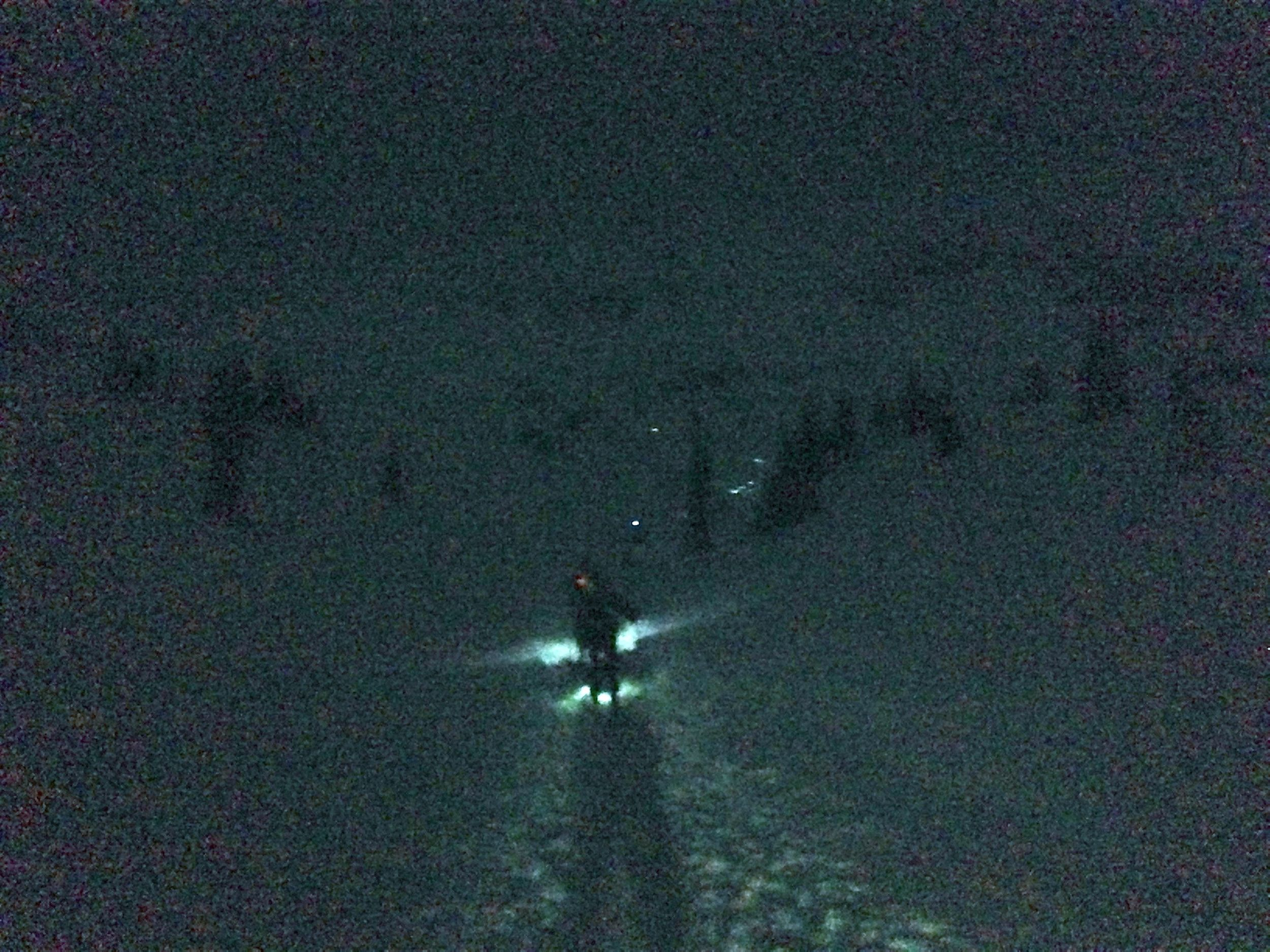 heading up into the star basin, above treeline. the racers ahead are climbing to the high point.