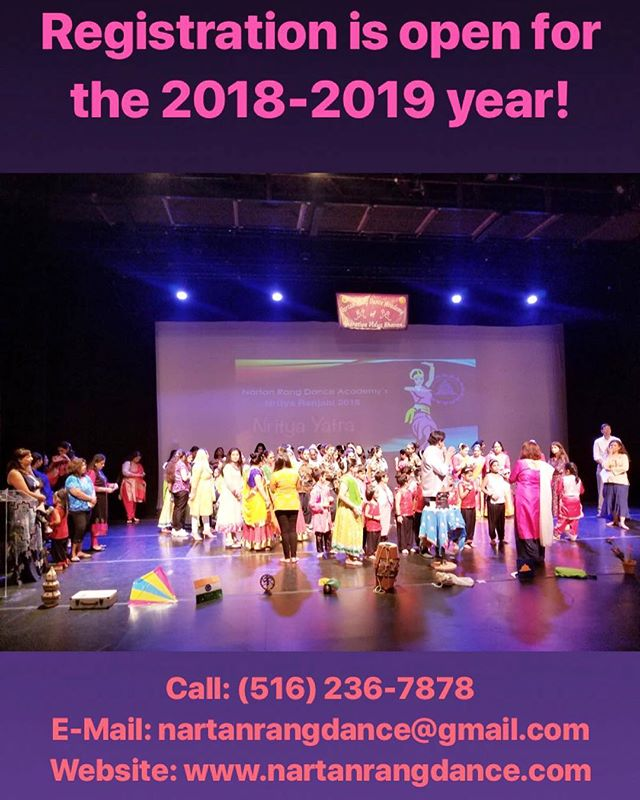 Registration is now open for the 2018-2019 year! Come join us & move your feet to the beat of your heart. 💃🏽💕 CORRECTION: PHONE NUMBER IS (516) 236-7879! . . . . #NYC #LI #NewYork #LongIsland #dancer #artist #family #culture #SouthAsia #therapy #choreographer #NewHydePark #Hicksville #adults #kids #teacher #NartanRang #NartanRangDanceAcademy #NrityaYatra #NrityaRanjani #NR2018 #AUPAC #AdelphiUniversity #BharatiyaVidyaBhavan #bharatnatyam #kathak #fusion #classical #semiclassical #Bollywood