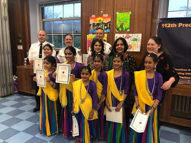 Dance performance at any event or venue is a pleasure, but when you perform at a place which brings you sense of security, protection and pride, that feeling is very different. Nartan Rang students performed at Queens Borough Hall at 112th precinct in queens on May 9th. Thanks to Rene Lobo for thinking of us.#dance #nartan Rang #bhavan # passion  # choreographer # Queensboroughhall