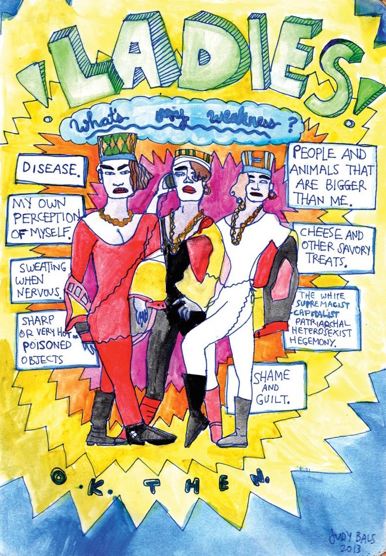 """Ladies!  Judy Bals  $8.00  18""""x24"""" newsprint poster"""