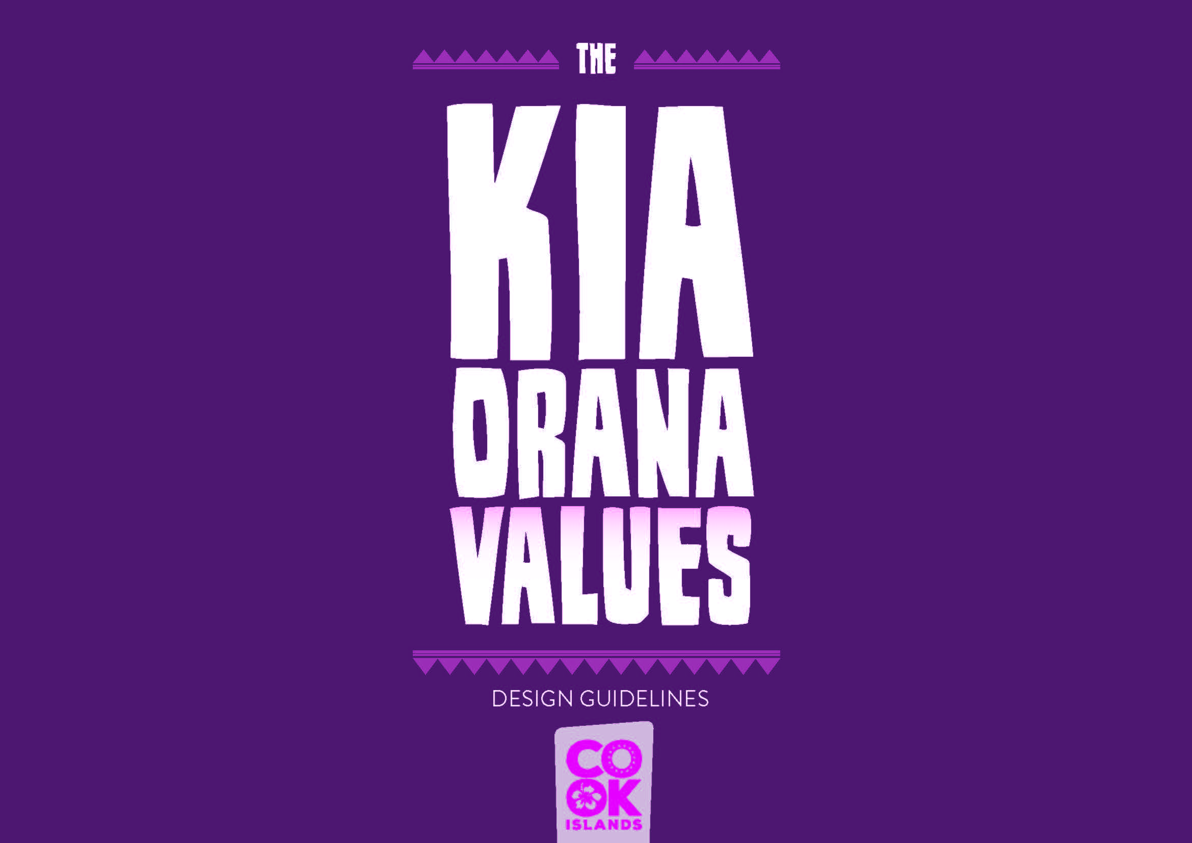Click on image to download - Kia Orana Values Design Guidelines