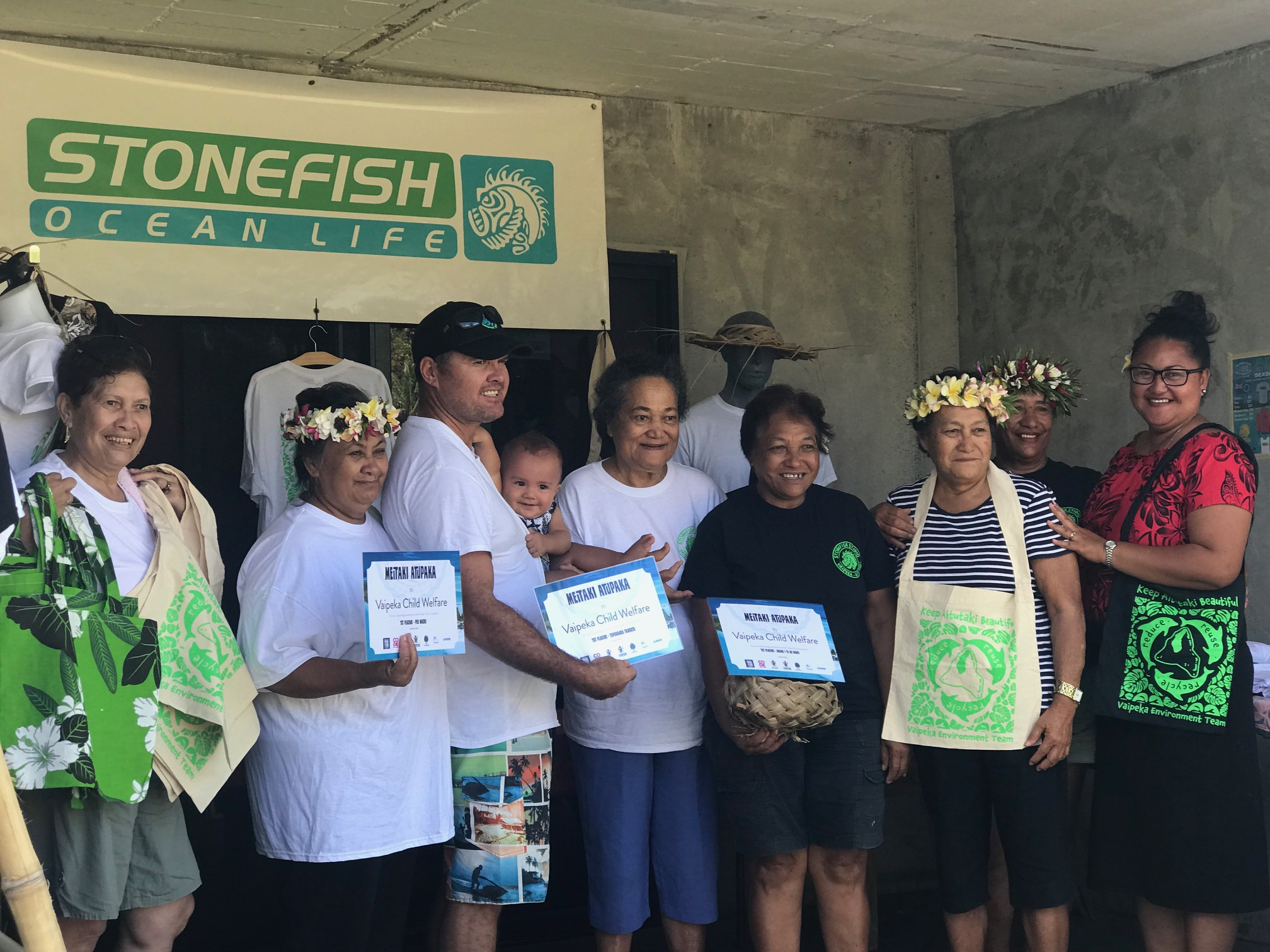 Vaipeka Village members proudly display their certificates after taking out first placing in all categories  in the recent TVOR competition.jpg