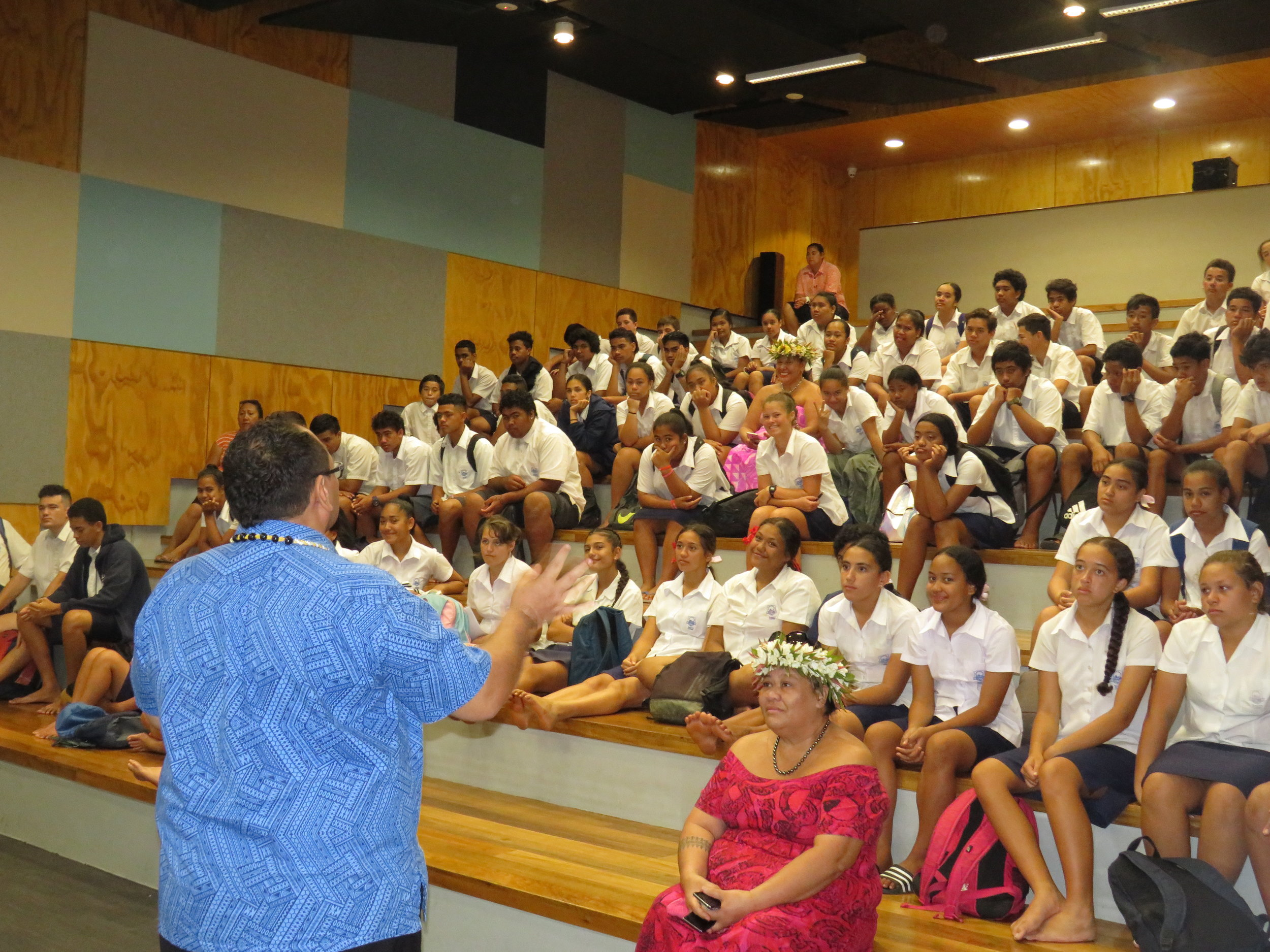 Cook Islands Tourism Corporation presents to Tereora College students.JPG