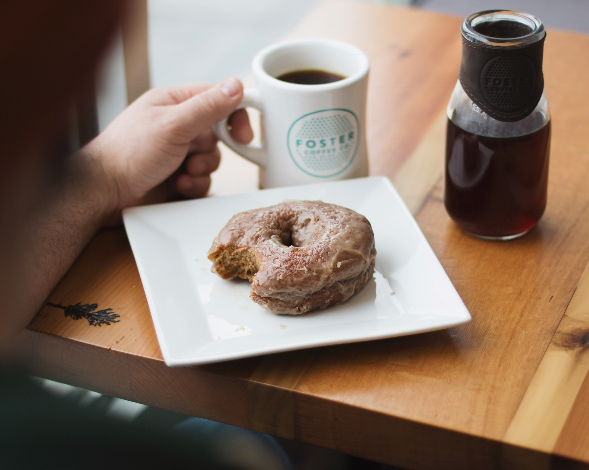 Local Collaboration We partner with other local businesses, like this espresso doughnut from BlueLine Donuts in Flint.