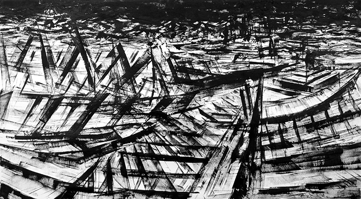 """""""Untitled"""" - Ink on Paper 42 X 24 Inches"""