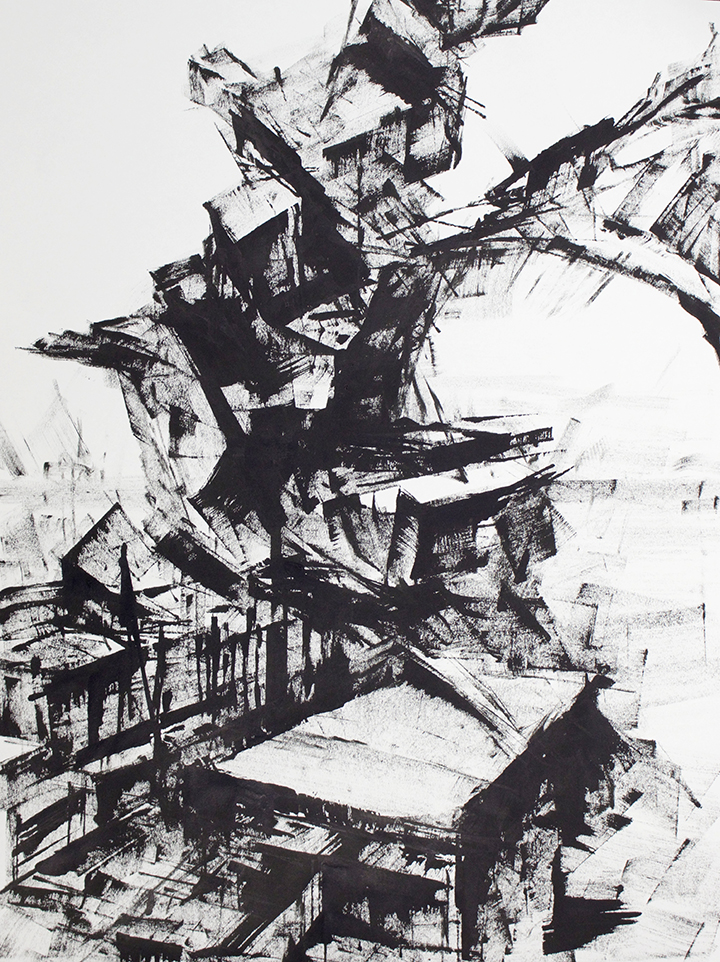 """""""Untitled"""" - Ink on Paper 18 X 24 Inches"""