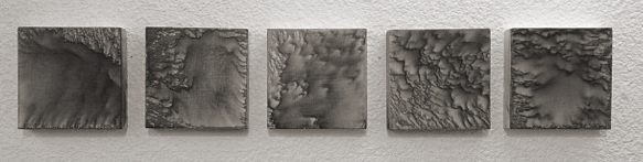 """""""Untitled"""" - Acrylic on Panel 4 X 4 Inches Each"""