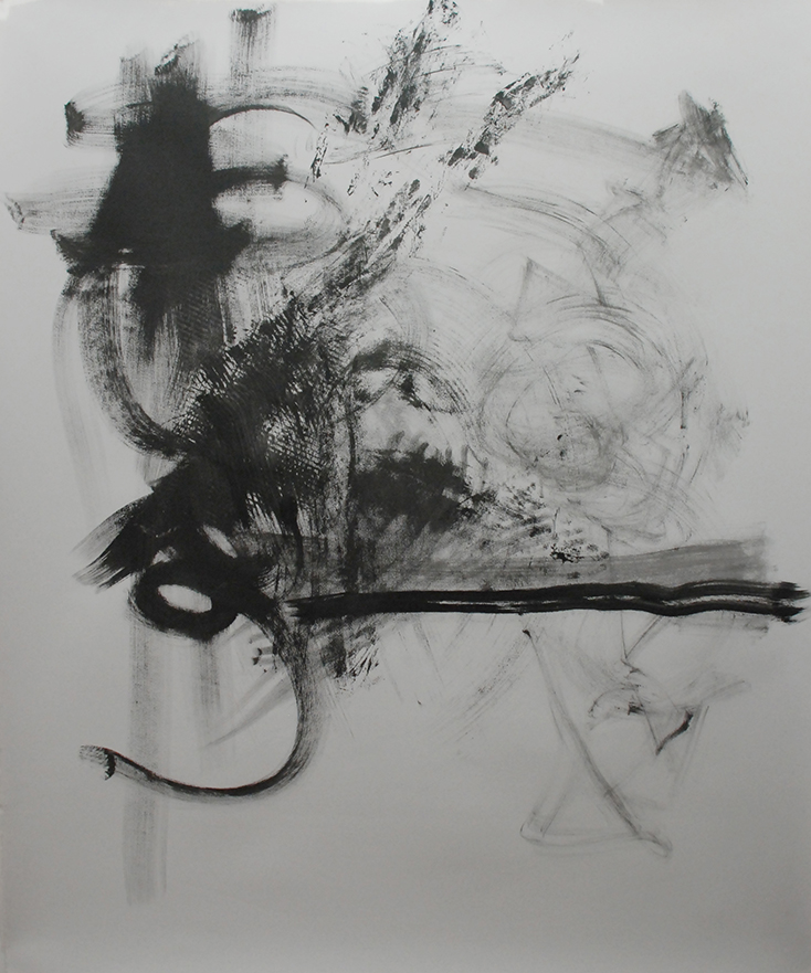 """""""Untitled"""" - Acrylic on Paper 48 X 60 Inches"""