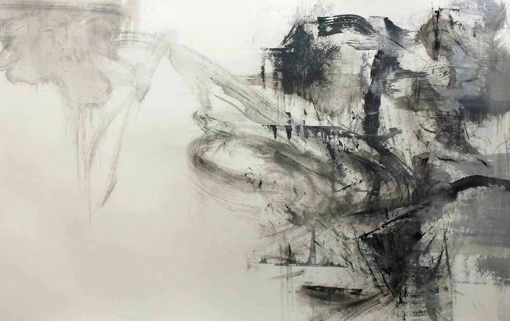 """""""Untitled"""" - Acrylic on Paper 70 X 42 Inches"""