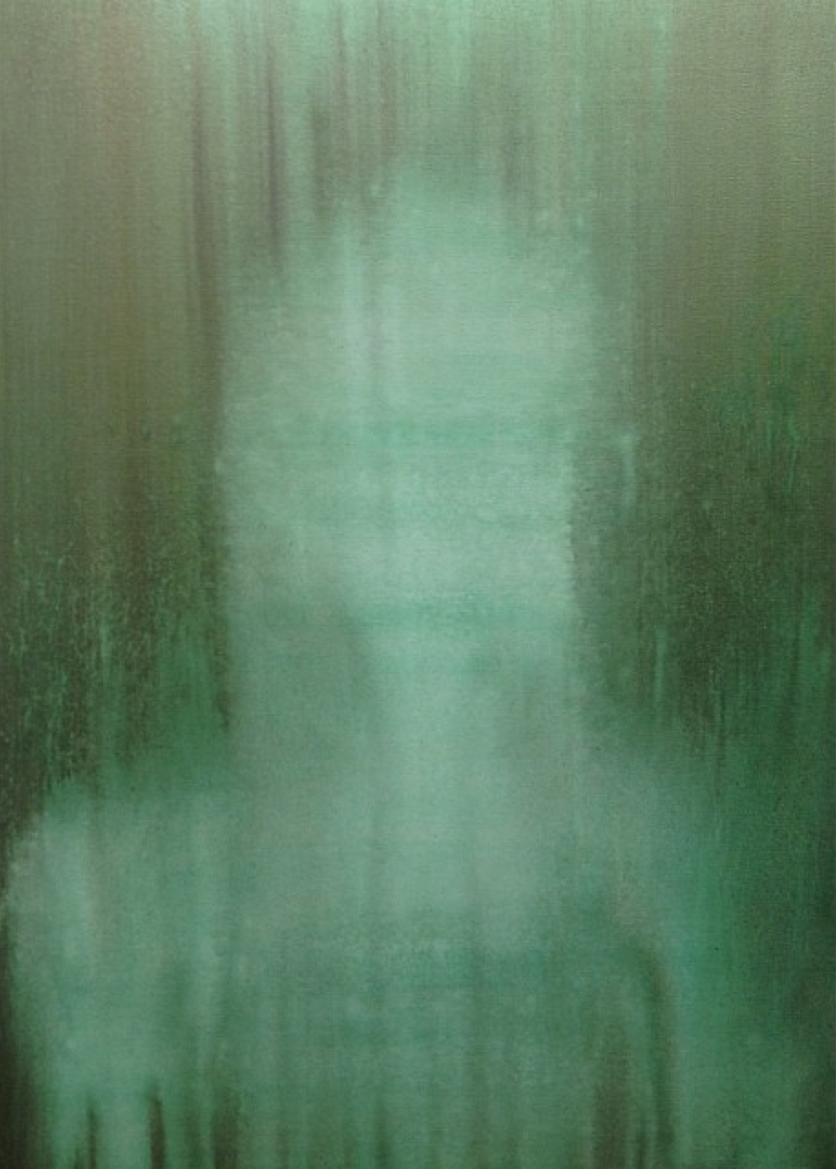 """""""Green"""" - Acrylic on Canvas 36 X 48 Inches"""