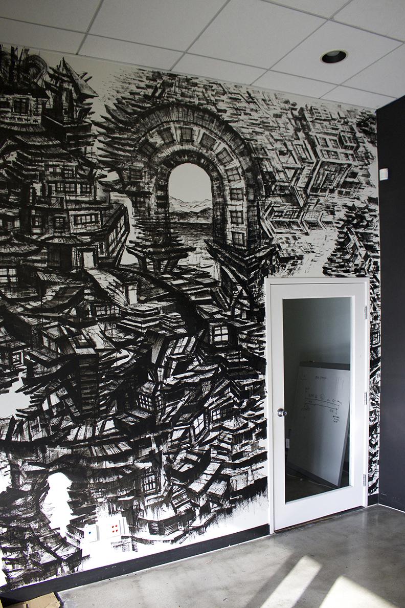 Interior Wall Art / Mural for Revel Offices in Santa Monica, CA