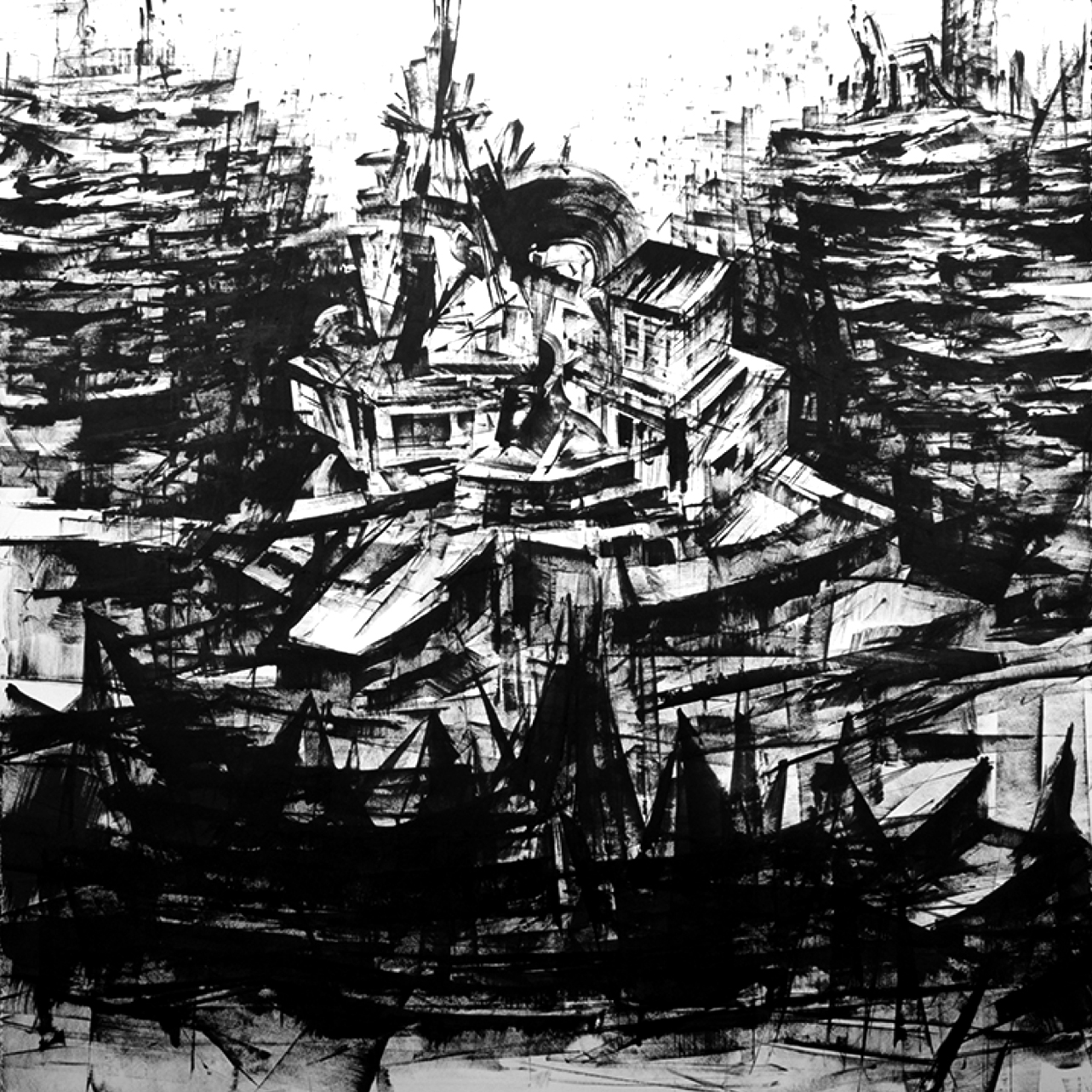 """""""Untitled"""" - Ink on Paper 50 X 50 Inches"""