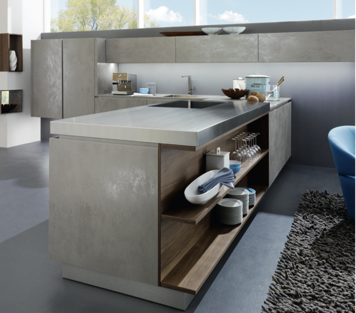 This kitchen makes use of stainless steel, ceramic and wood -Alno AG