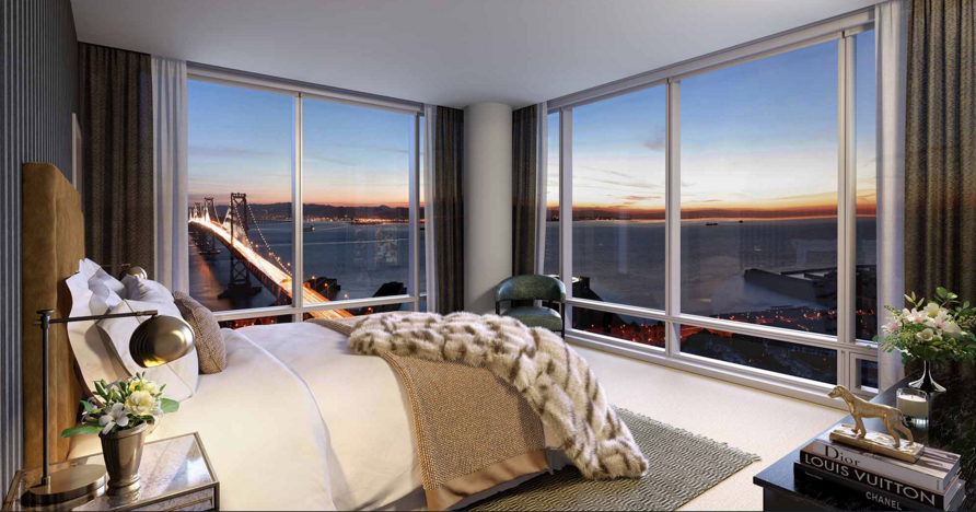 Imagine falling asleep each night and awaking every morning in a well-appointed bedroom with stunning city views.