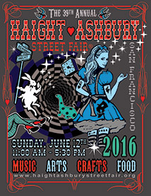 Click here  for more information on the Haight Ashbury Street Fair.