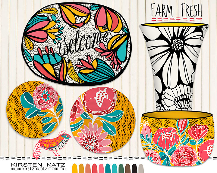 Farm Fresh Ceramic Designs by Kirsten Katz