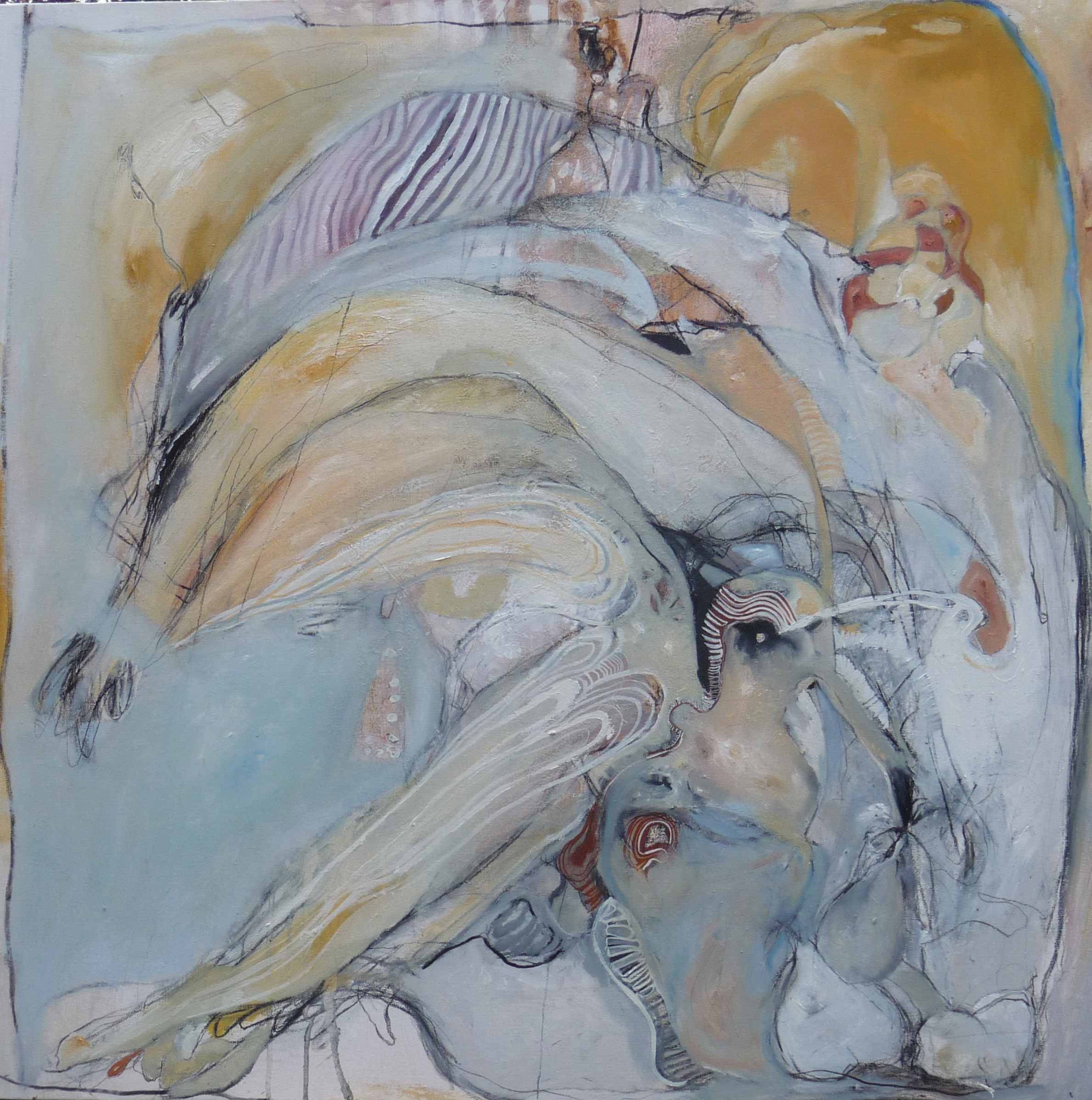 Bird Watching Leg Watching 2015  Acrylic on canvas  90 x 90cm
