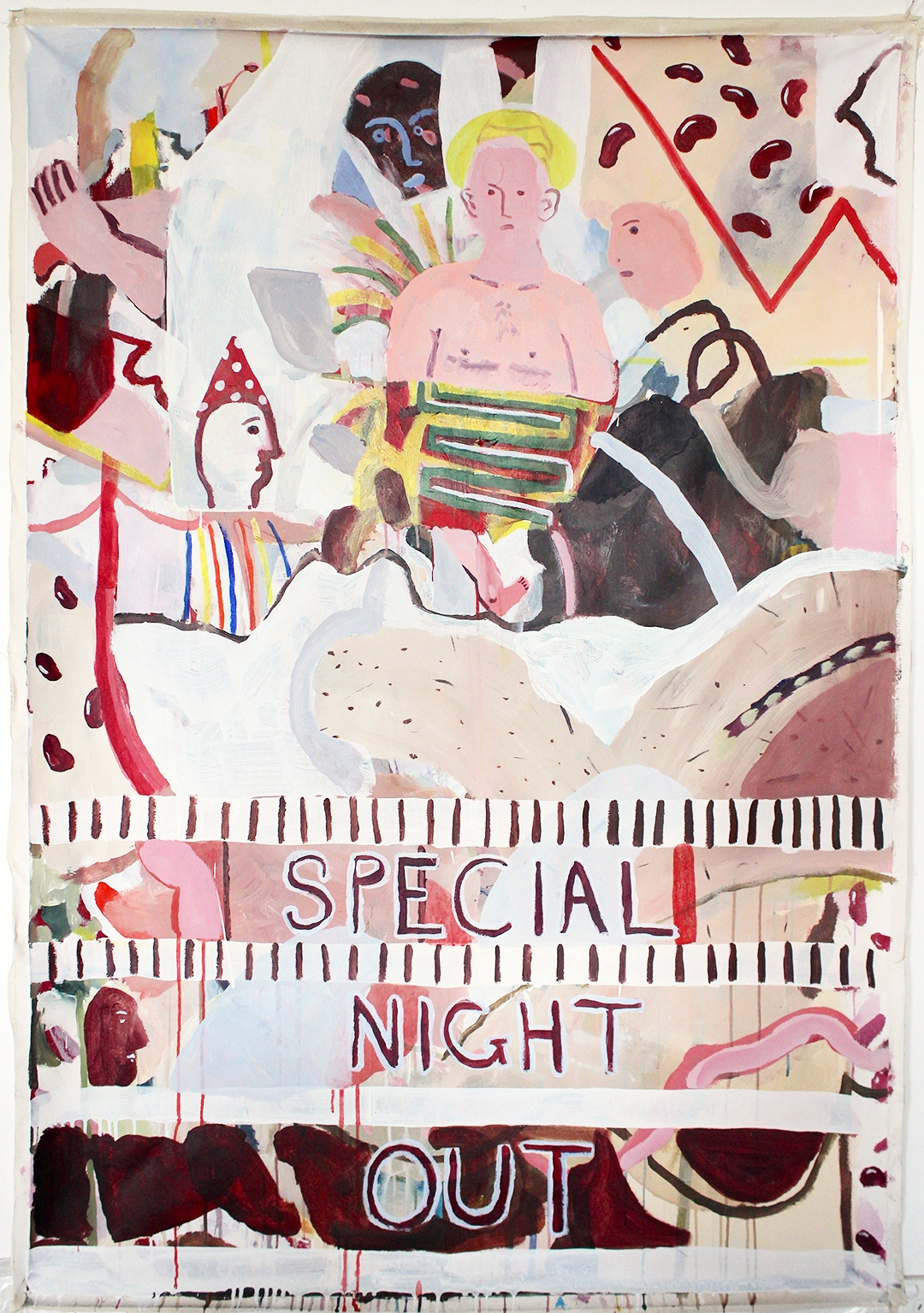 Special Night Out 2015 Acrylic on canvas 200 x 120 cm