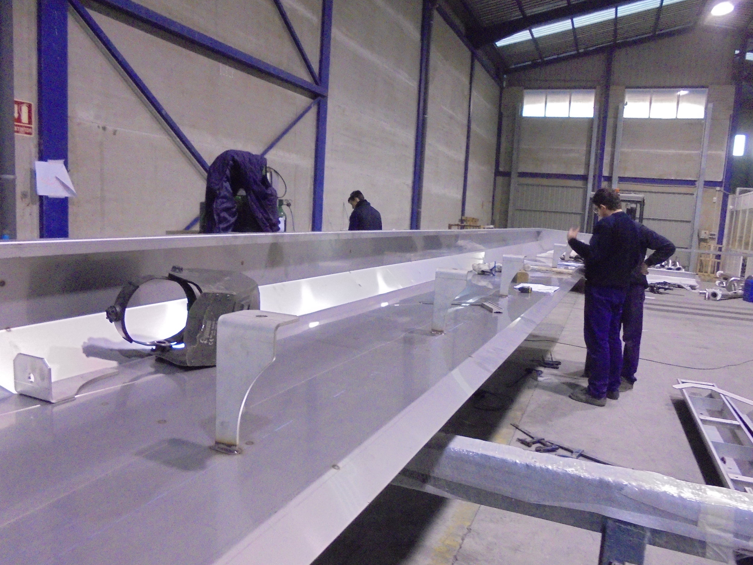 Construcción de cortinas de acero inoxidable para cabina de pintura