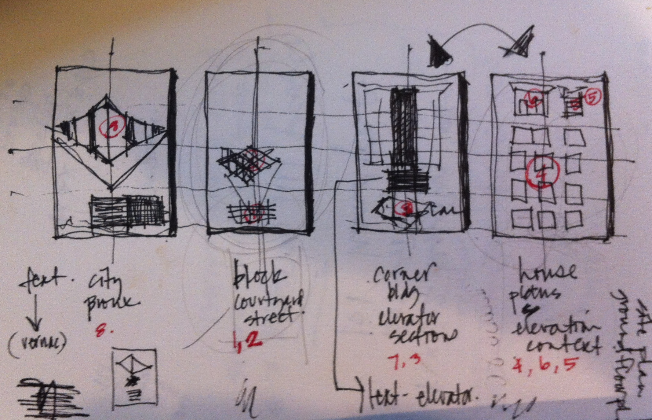 One of many layout sketches of competition boards circa 1993, Virginia Tech.