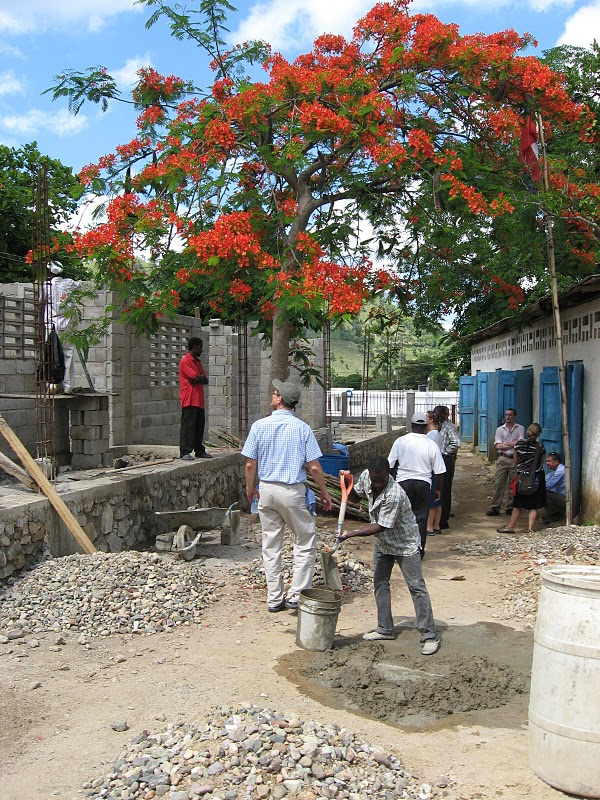 2011  | Volunteering in Haiti during the rebuilding of a more structurally sound St. Marc's school after the previous year's earthquake.
