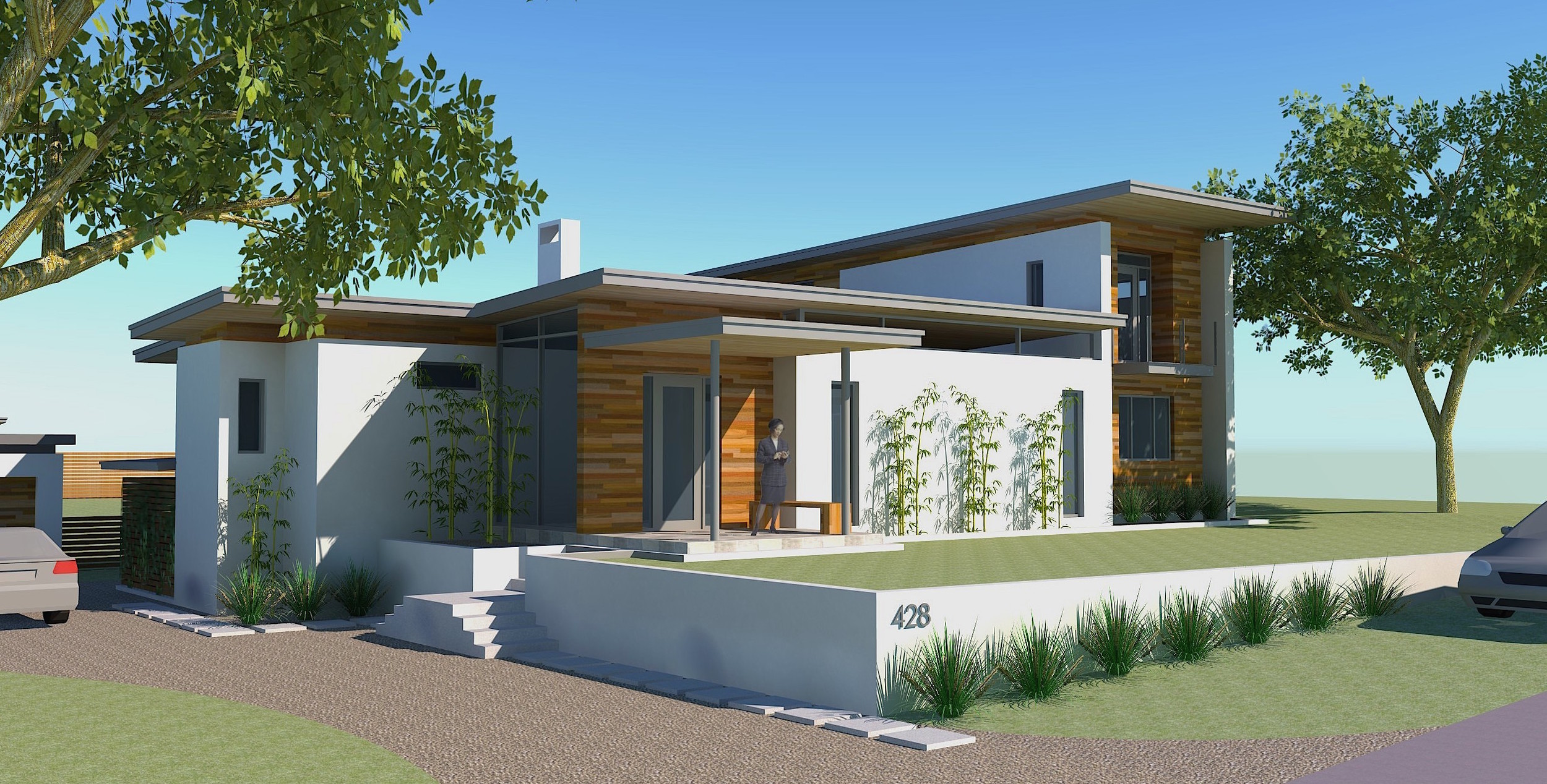 2012  | Design starts for a modern house in Old Mount Pleasant with edited, clean lines and a horizontal emphasis.