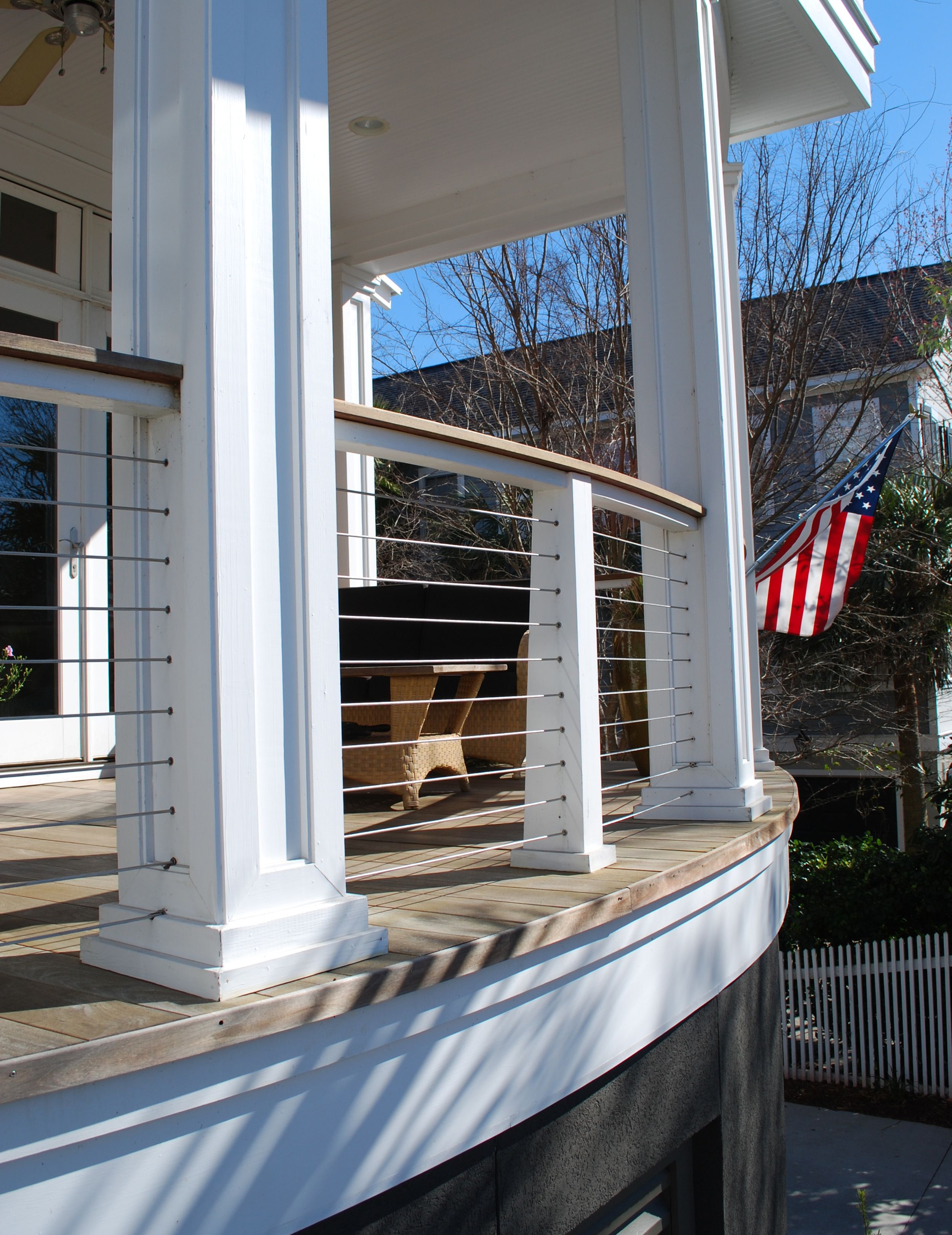 2006  |  Porch detail on a coastal home design in Mount Pleasant, SC.