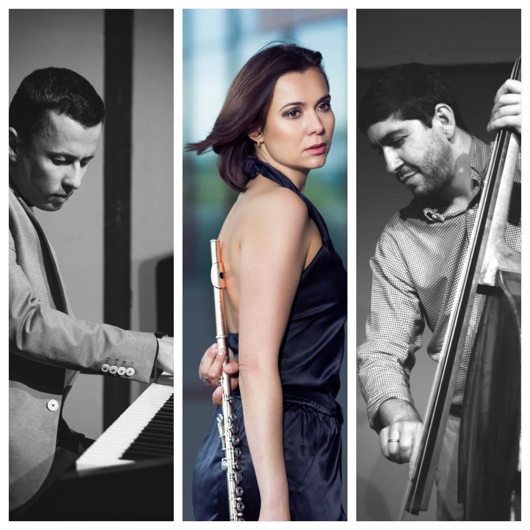 Dias Karimov (Klavier), Olga Reiser (Querflöte),Pavel Klimashevsky (Bass).