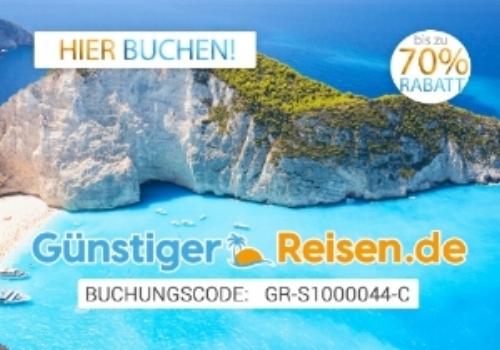 """Sie können unseren Verein auch unterstützen, wenn Sie Reisen, Flüge, Hotels etc. bei    """"Günstiger Reisen""""    mit dem auf dem Banner genannten Code   GR-S1000044-C   buchen. Sie erhalten dazu noch Gutscheine im Wert von 25,00 € und mehr von uns!"""