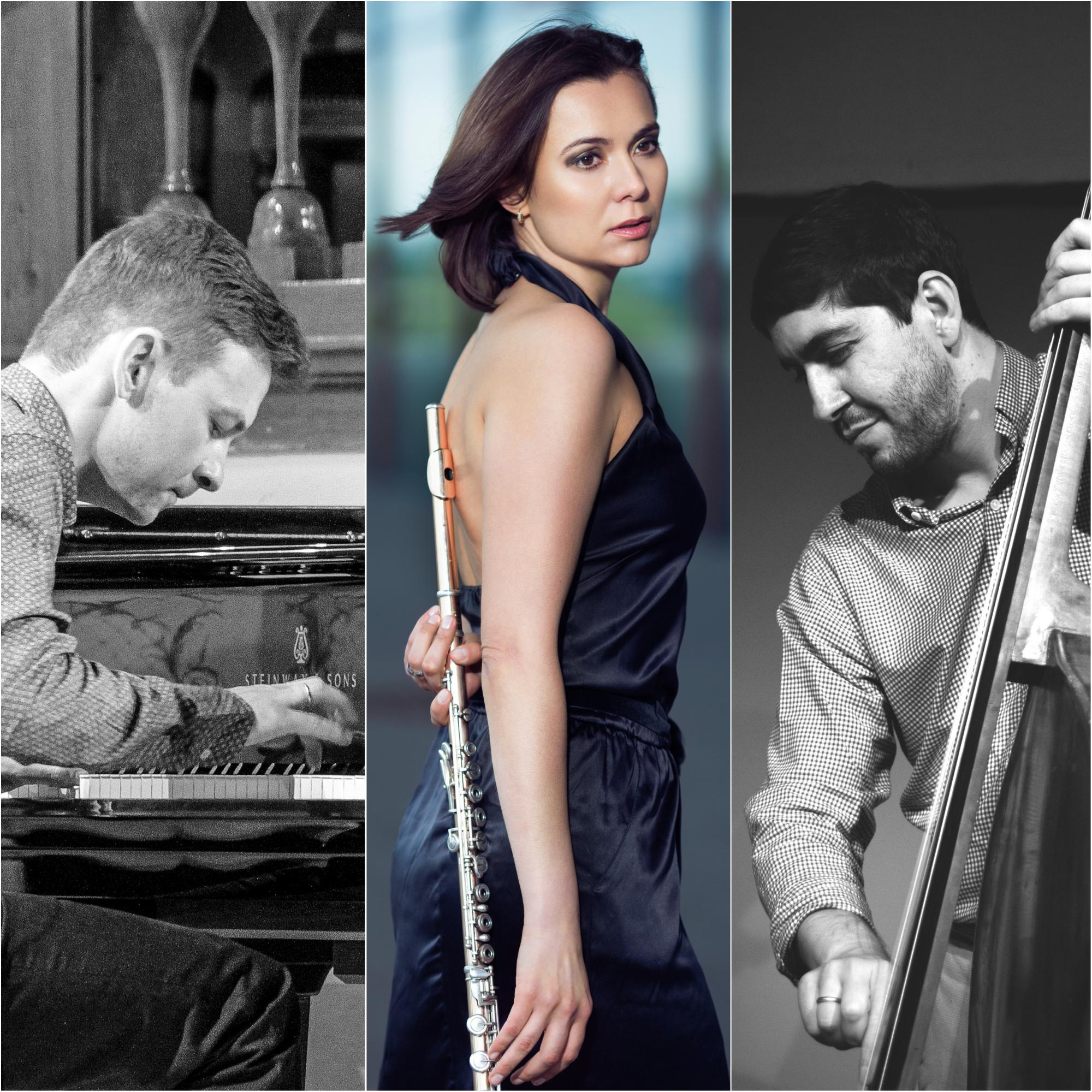 Andrey Shabashev (Piano), Olga Reiser (Querflöte), Pavel Klimashevsky (Bass)
