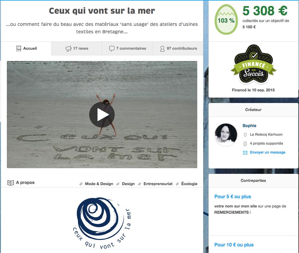 Crowdfunding ceuw qui vont sur la mer
