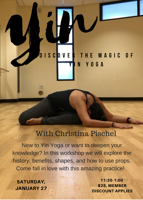 Yin yoga is one of my passions and I'm excited to share this workshop at Yoga Pod Littleton!