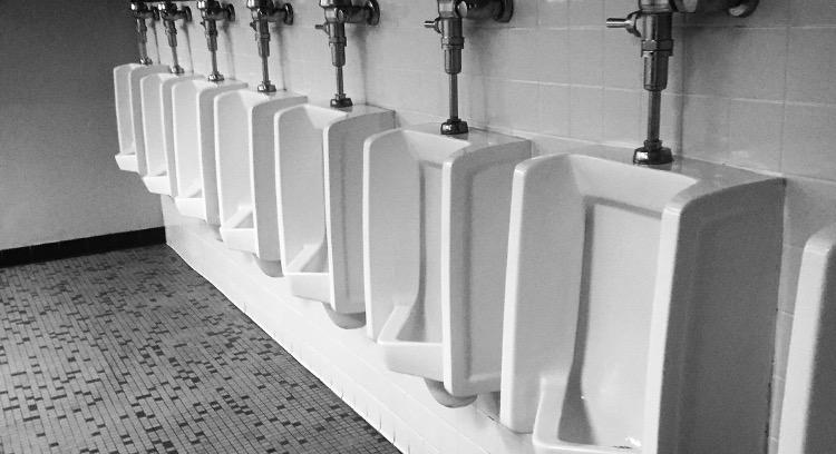 Urinals.