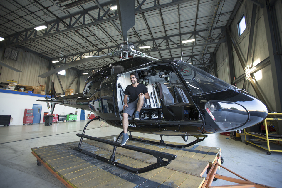checking out the ride before they took it out of the hangar.
