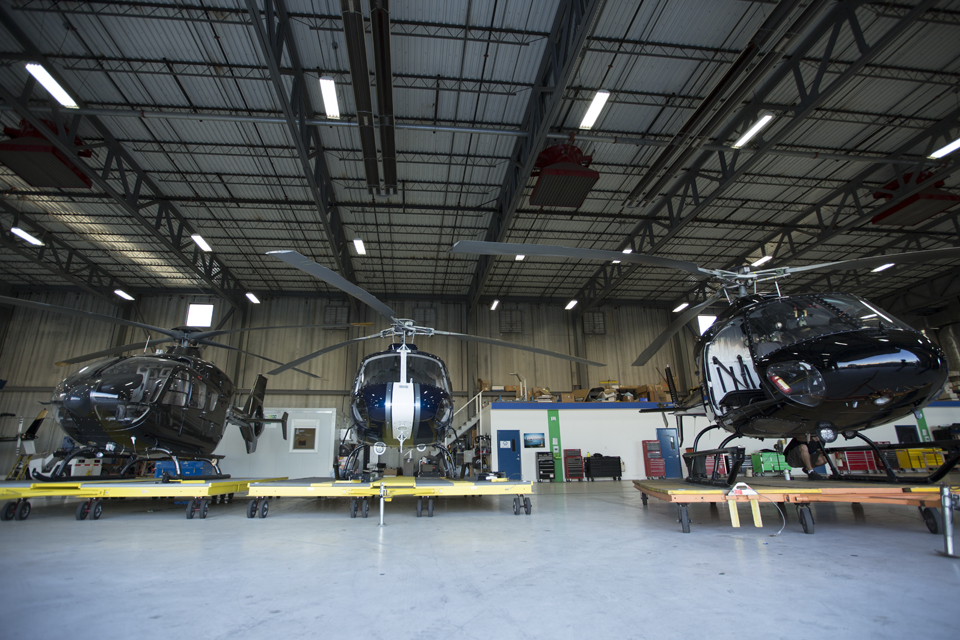 A little taste of what they're packing in the hangar.