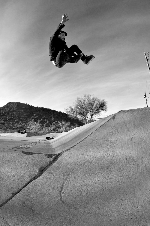 Mike Lilly - Fakie 540 Stale in Phoenix, AZ  Canon 5D Mark II, Canon 15mm f/2.8 Fisheye (iso800, f/8, 1/1250s)