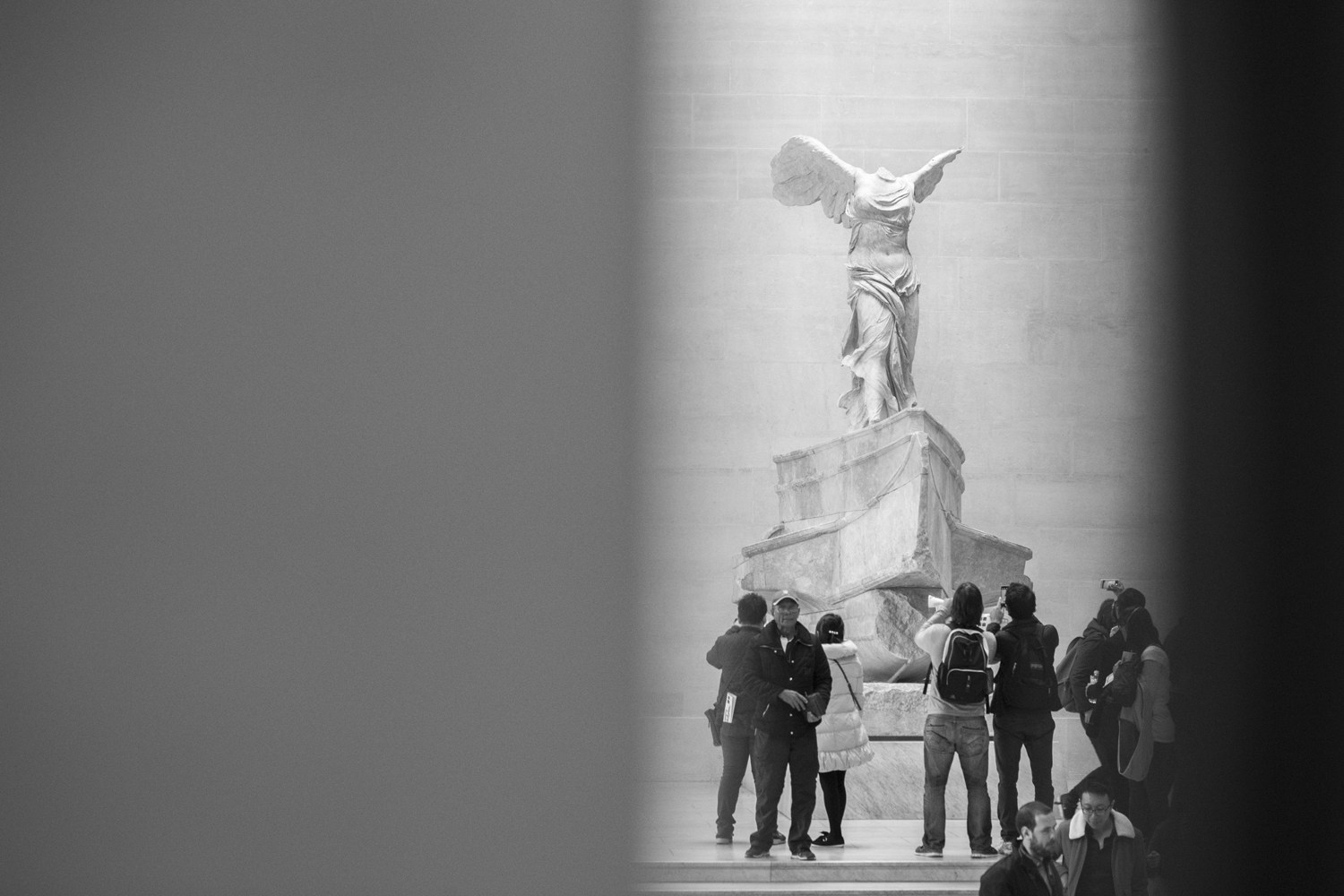 This is the Winged Victory Of Samothrace which we saw at The Louvre Museum. Its crazy seeing and being able to touch something made from 190B.C.  Canon 6D, Canon 85mm f/1.8 (iso3200, f/4, 1/160s)