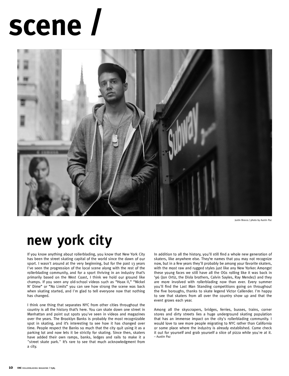 austin paz justin brasco one magazine nyc